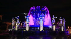 Fountain Friendship of the people in Moscow on VDNH Stock Footage