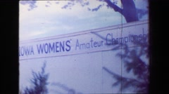 1970: Iowa women's golf amatuer championships professional tourament gathering. Stock Footage