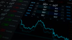 Finance abstract background. Stock chart and price. Numbers and chart abstract - stock footage