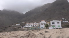 New housing along road near Baia das Gatas, Sao Vicente, Cape Verde Islands Stock Footage