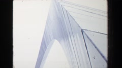 1970: Gateway Arch national monument weighted catenary archway from ground Stock Footage