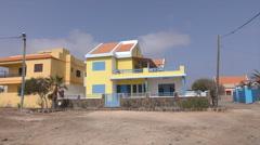 POV, houses, Baia das Gatas, Sao Vicente, Cape Verde Islands Stock Footage