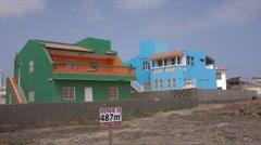 Building plot for sale, Baia das Gatas, Sao Vicente, Cape Verde Islands - stock footage