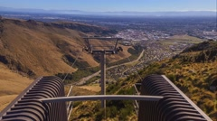 Christchurch Gondola, Time Lapse Pan Up Stock Footage