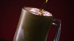 Root Beer Float Pour Stock Footage
