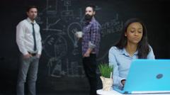 4K Young entrepreneur business group working & brainstorming in creative office Stock Footage