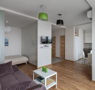 Interior of modern apartment in scandinavian style - stock photo