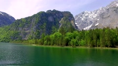 Lake Konigssee in Germany in the summer, the Alps Stock Footage