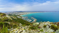 Il Poetto beach in Cagliari, Sardinia island, Italy Stock Footage