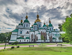 Timelapse Motion of St.sophia Cathedral in Kiev Stock Footage