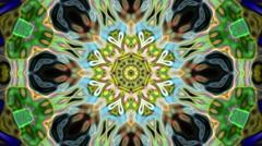 Beauty Flower Dark Kaleidoscope Loop Abstract Background - stock footage