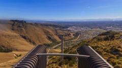 Christchurch Gondola, Time Lapse Pan Right Up Stock Footage