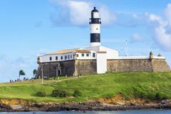 Farol da Barra Lighthouse in Salvador, Bahia, Brazil - stock photo