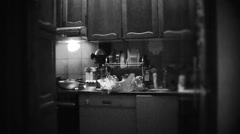 1960's BW styled clip - HOUSEWIFE I - stock footage