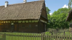 Typical Slavic Hut Ancient Times Stock Footage
