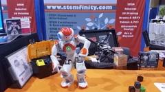 Dancing robot - stock footage