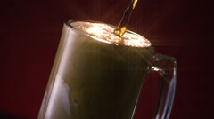 Root Beer Float Pour Star Filter Stock Footage