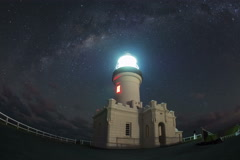 Cape Byron lighthouse moving timelapse Stock Footage