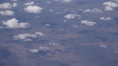 Aerial view of the Australian outback - stock footage