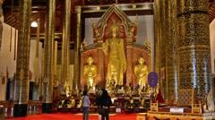 Tourists visiting Wat Chiang Man Stock Footage