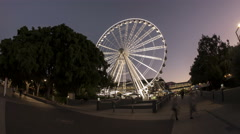 The Wheel of Brisbane moving time-lapse Stock Footage