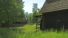 Side View of the Old Mill Stock Footage