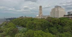 New York City West Side Highway Riverside Church Hudson River Stock Footage