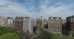 New York City West Side Riverside Park Stock Footage