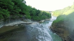 Aerial of beautiful Letchworth State Park Stock Footage