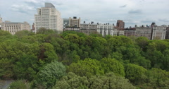 New York City West Side Riverside Park Columbia University Crane Stock Footage