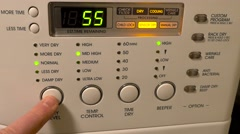 Clothes Dryer Controls Stock Footage