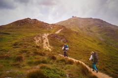 Climb on mountain Pop Ivan. Ukraine, Carpathians, 2022 meters. Stock Photos