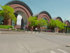 University of Washington Tacoma Campus Panning Shot - stock footage