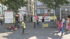 Migration protest Europe Stock Footage
