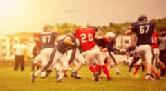 Blurred background of american football game Stock Photos