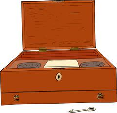 18th Century Paint Box - stock illustration