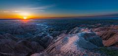 Sunrise in Badlands National Park Stock Photos