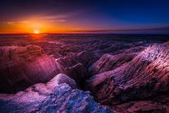 Sunrise in Badlands National Park Stock Photos