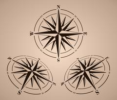 Compass roses set Stock Illustration