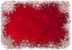 Christmas frame over red background Stock Illustration