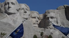 Mount Rushmore South Dakota Slow zoom out HD Video - stock footage