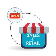 Sales and retail design. Shopping icon. White background , vector - stock illustration