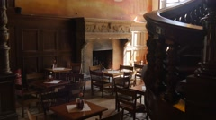 Children's Day Moszna Village Moszna Castle Formal Dining Room on First Floor Stock Footage