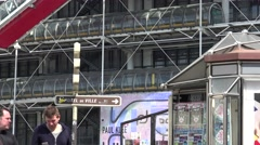 ULTRA HD 4k,The Centre Pompidou in Paris, France Stock Footage