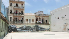 Havana Cuba Street Art Dream Girl Stock Footage