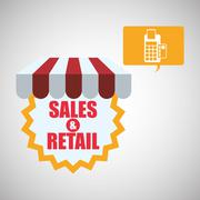 Shopping design. Sales and Retail icon. Isolated illustration , vector - stock illustration