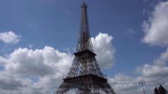 Replica of the Eiffel Tower Stock Footage