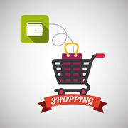 Shopping design. Sales and Retail icon. Isolated illustration , vector Stock Illustration
