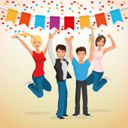 Party design. Celebration icon. Colorfull illustration , vector - stock illustration