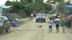 Busy Dirt Road in Canoa, Ecuador after Earthquake Stock Footage